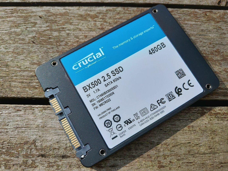 BX500 vue SSD dessous