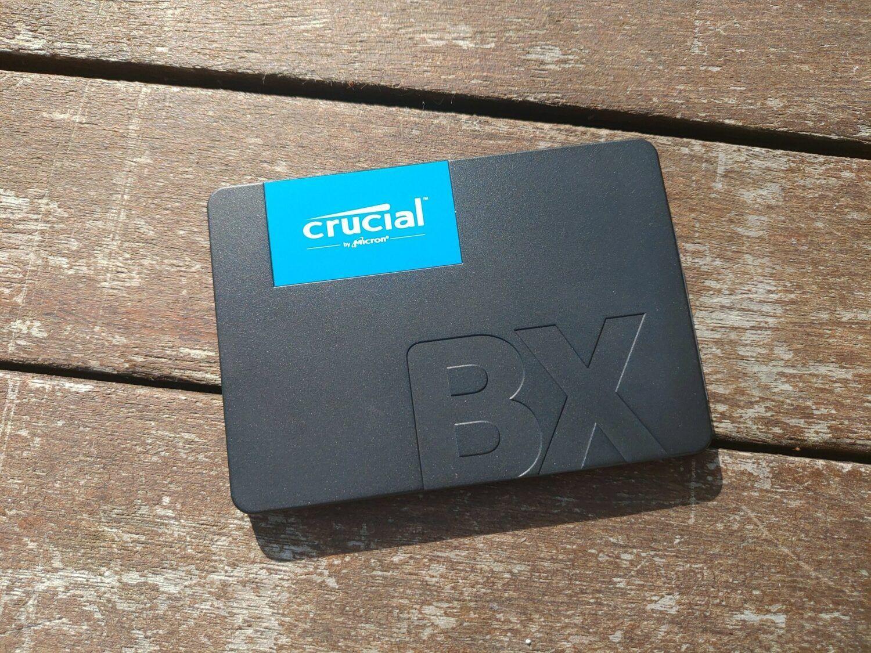 BX500 vue SSD dessus