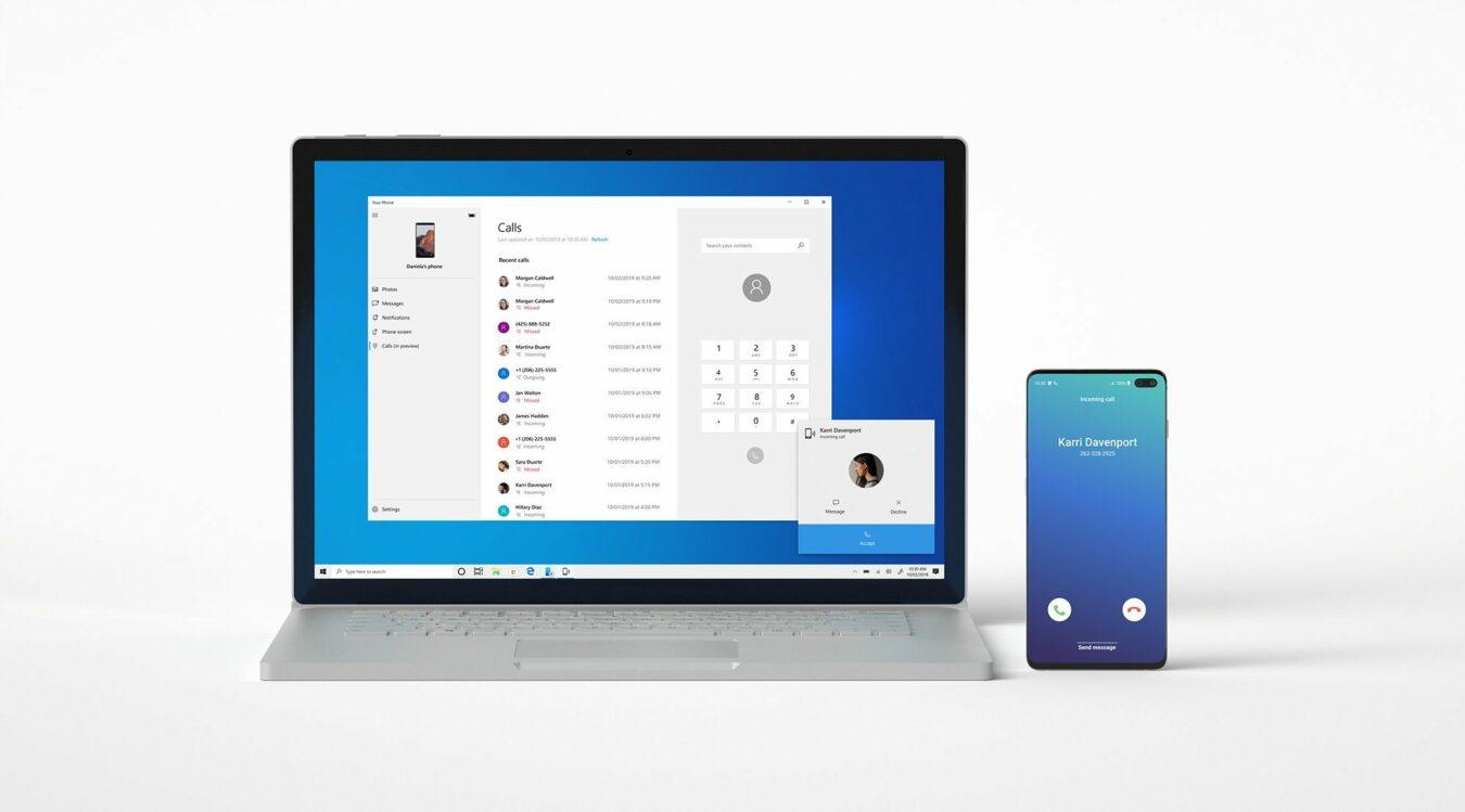 Photo of Votre téléphone : Passer des appels depuis Windows 10 !