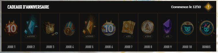 League Of Legends - récompenses