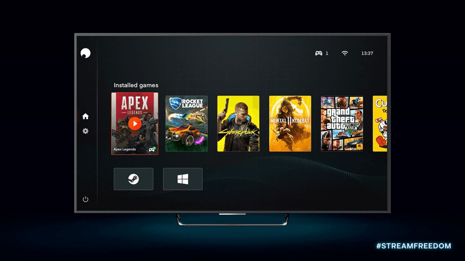 Shadow nouvel interface tv