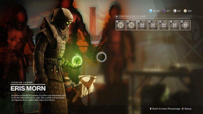 Test Destiny 2 Le bastion des Ombres - Eris Morn