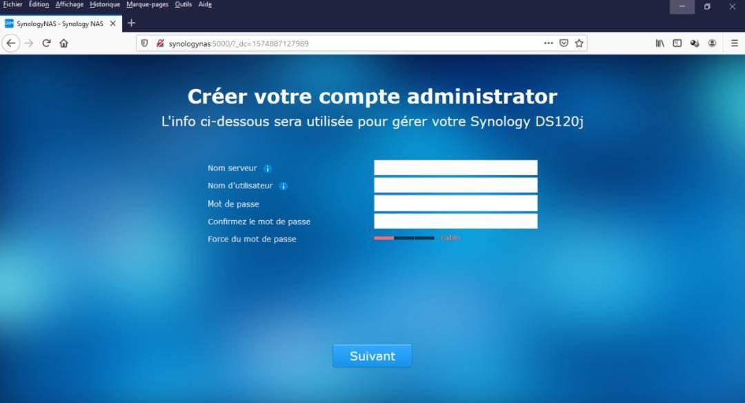 Configuration-nom-mot de passe