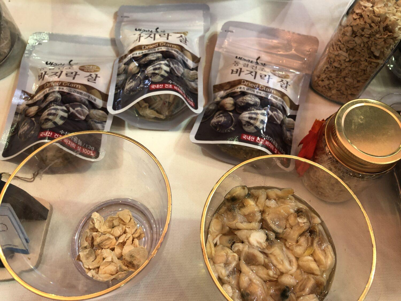 Coex Food week Corée du sud palourdes