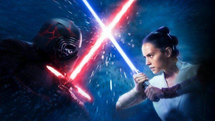 Combat Kylo Ren Rey Star Wars IX