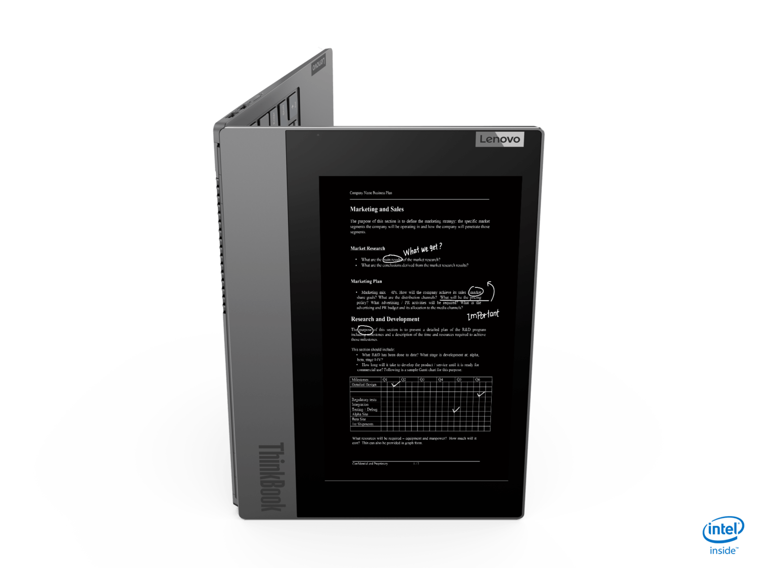 ThinkBook Plus couverture e-ink