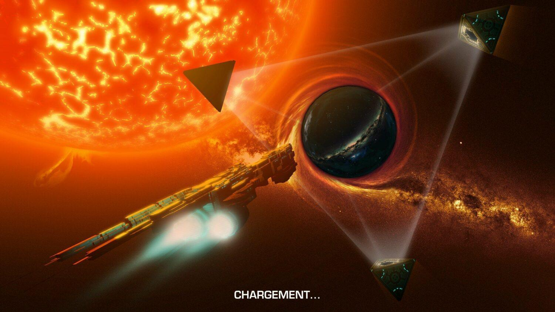 Crying Suns-un des superbes écrans de chargement du jeu