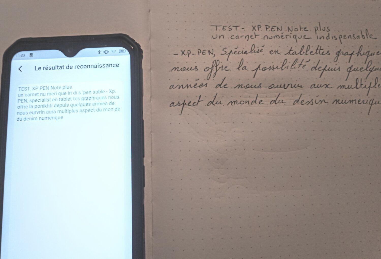 la reconnaissance d'écriture du Note plus est sensible à la qualité de la calligraphie. l'interpretation n'est pas toujours bonne.