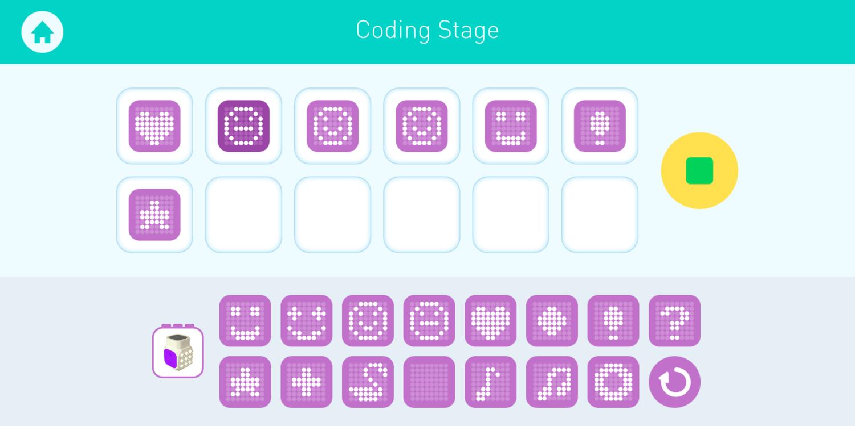 Programmation symbolique d'affichage sur la matrice LED