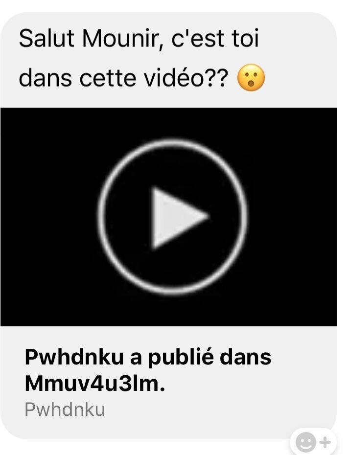 Virus Facebook Messenger-Video-Tweet-@Mounir