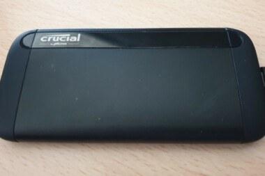 TEST - Crucial SSD X8 - vue de dos