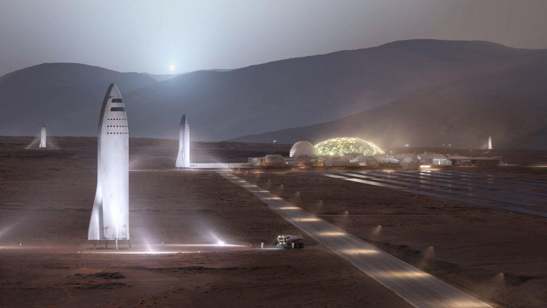 spacex plan colonisation mars 2050 elon musk