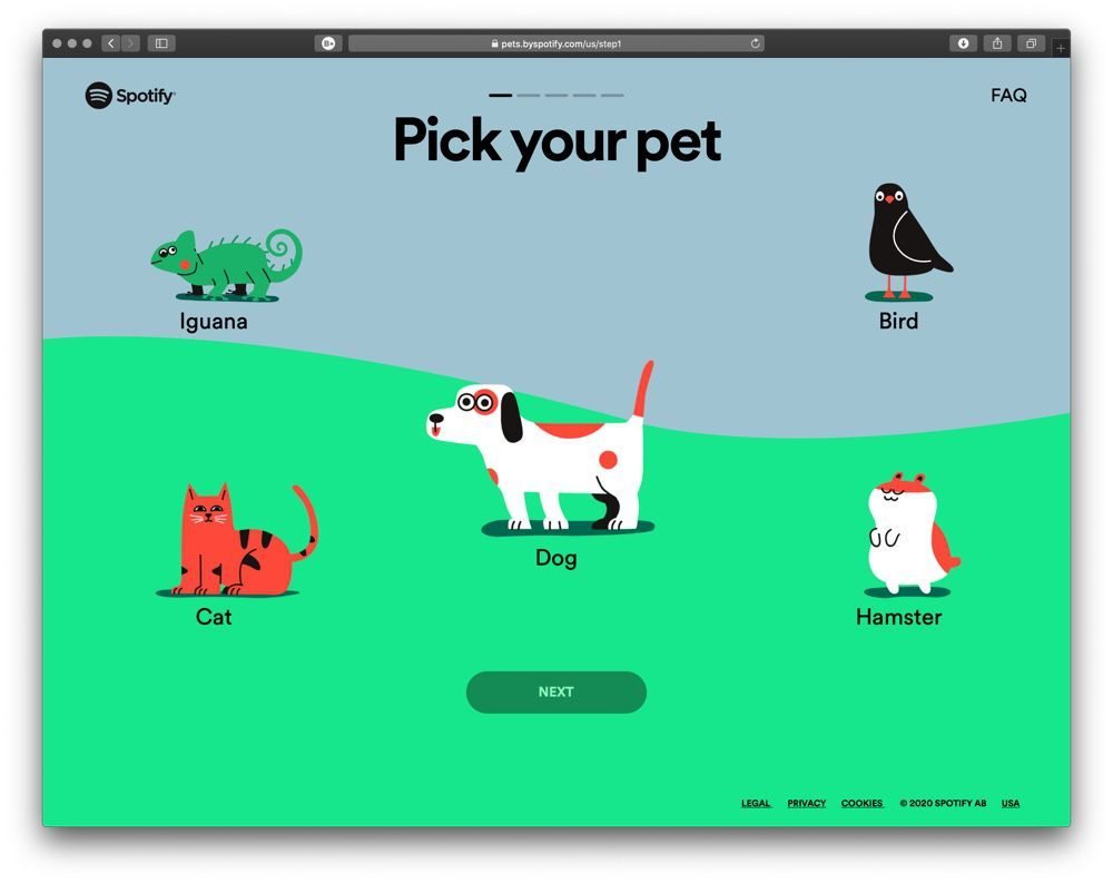 spotify playist animaux pet