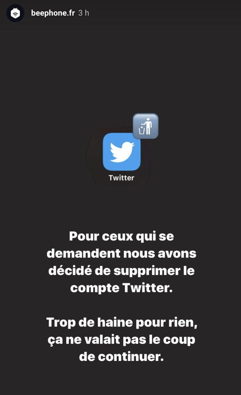 Fermeture du compte Twitter de Beephone