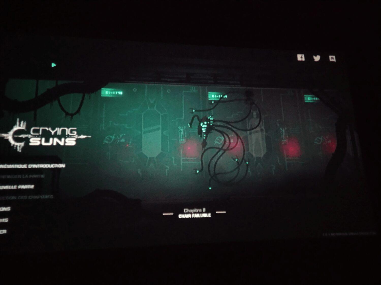 Petite session de Crying Suns sur un écran de 2m