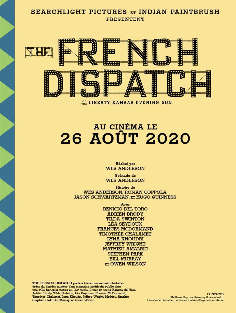 Affiche teaser du film The French Dispatch