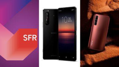 fibre sfr sony xperia 1 II realme x50 pro smartphone