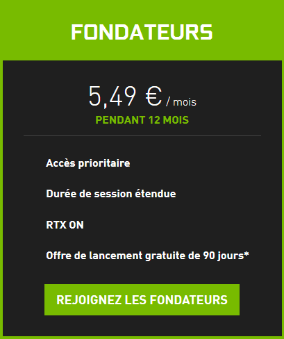 nvidia geforce now offre payante
