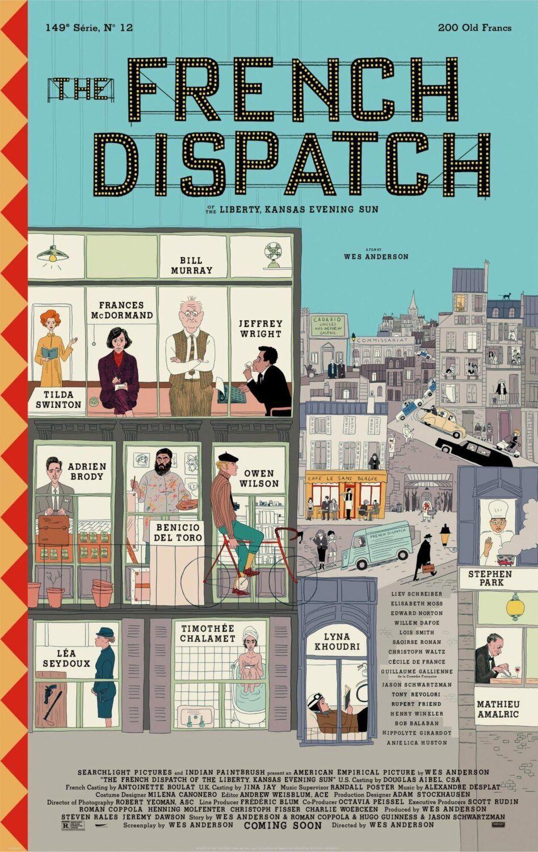 Affiche définitive du film The French Dispatch