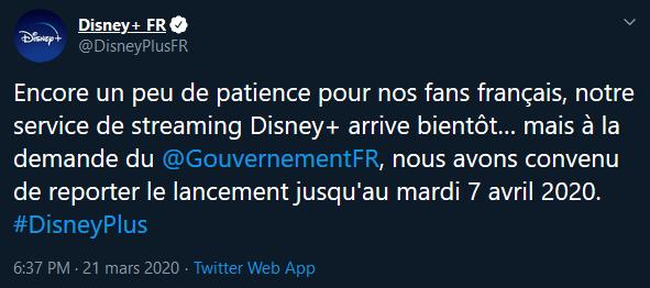 Tweet Disney +