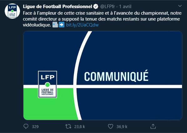 Ligue 1 Coronavirus Sport Football
