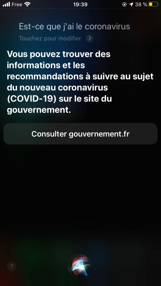 Siri Covid 19 France