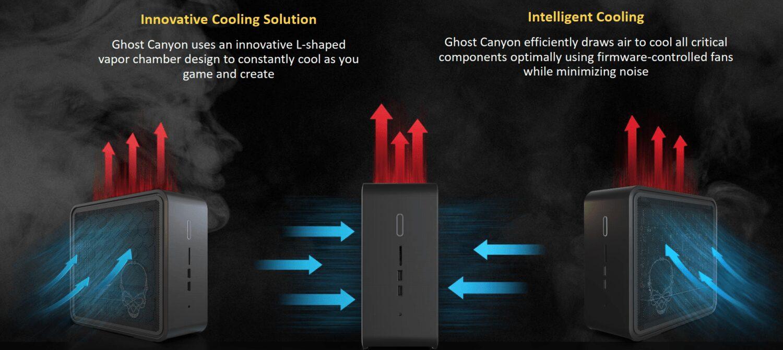 Intel NUC Ghost Canyon - airflow schema