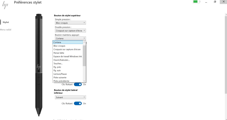 HP Elite Dragonfly  - logiciel stylet bluetooth