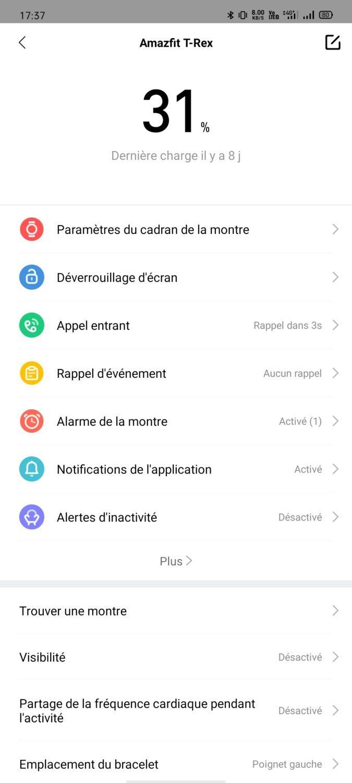 Amazfit T-REX - Application 3
