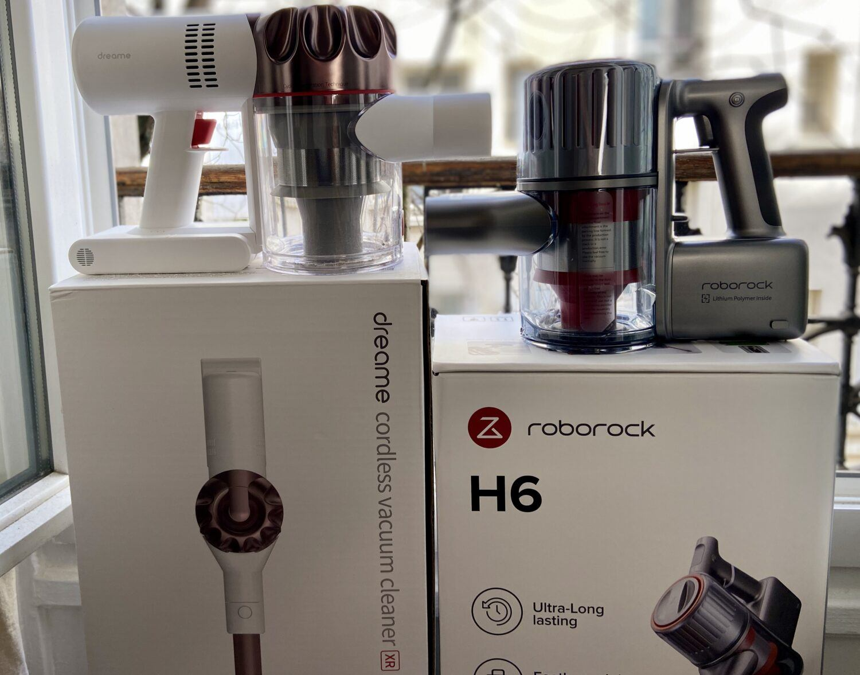 Test comparatif aspirateur sans fil Dreame XR Roborock H6