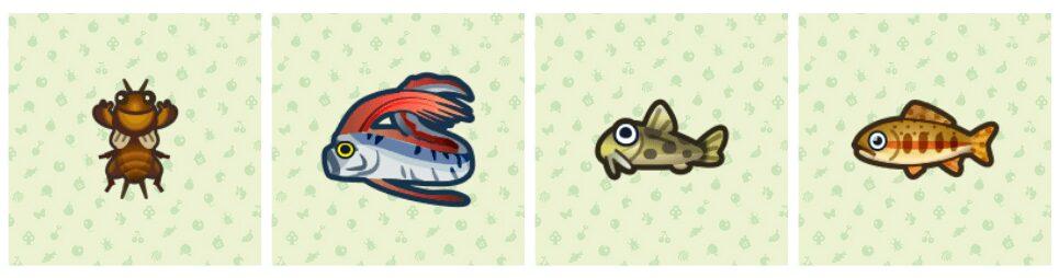 animal-crossing-new-horizons-taupe-grillon-poisson-ruban-truite-doree-loche-etang
