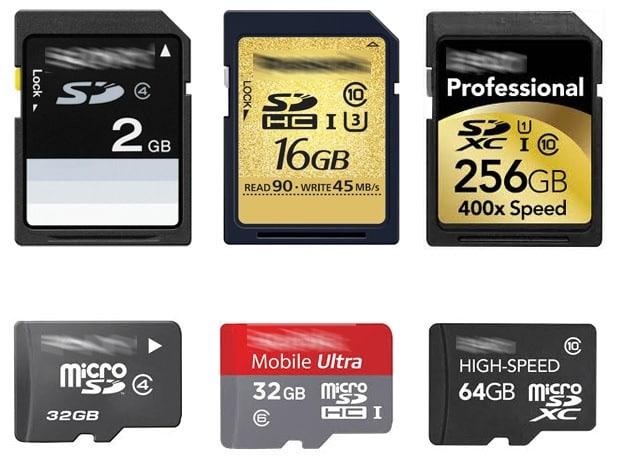Appareils numériques - Cartes SD
