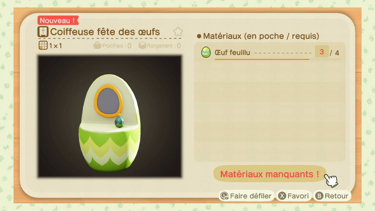 coiffeuse fete des oeufs animal crossing new horizons