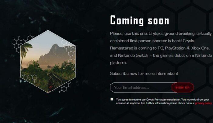 Crysis Remastered NextGen