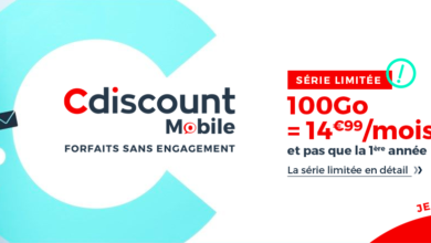 forfait mobile 100 Go Cdiscount serie limitee