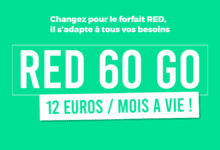 Photo of Forfait mobile RED 60Go à 12€, le grand retour !
