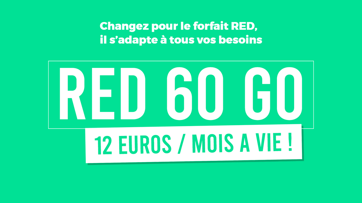 forfait mobile 60 Go RED by SFR