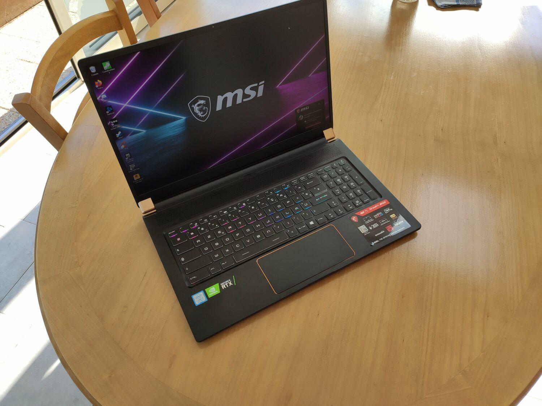 écran du MSI GS75 Stealth