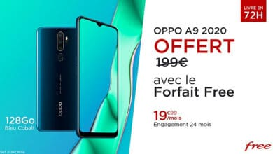 forfait mobile 100 Go free oppo a9 offert