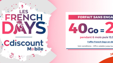 Photo of CDiscount lance un forfait 40 Go à 2,99€ par mois – French Days