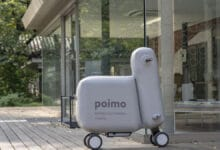 Photo of Une trottinette électrique gonflable nommée Poimo
