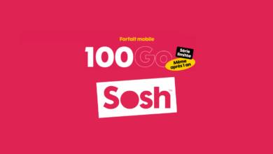 sosh forfait mobile 100 go mai serie limitee