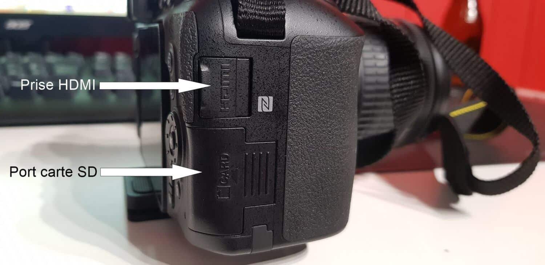 Nikon D5600 - Côté droit
