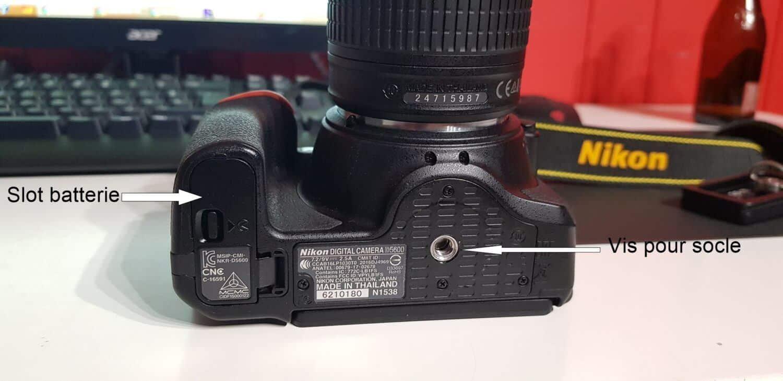 Nikon D5600 - Dessous