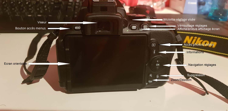 Nikon D5600 - Arrière