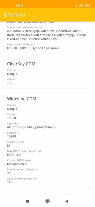 Widevine L1 Xiaomi Mi 10