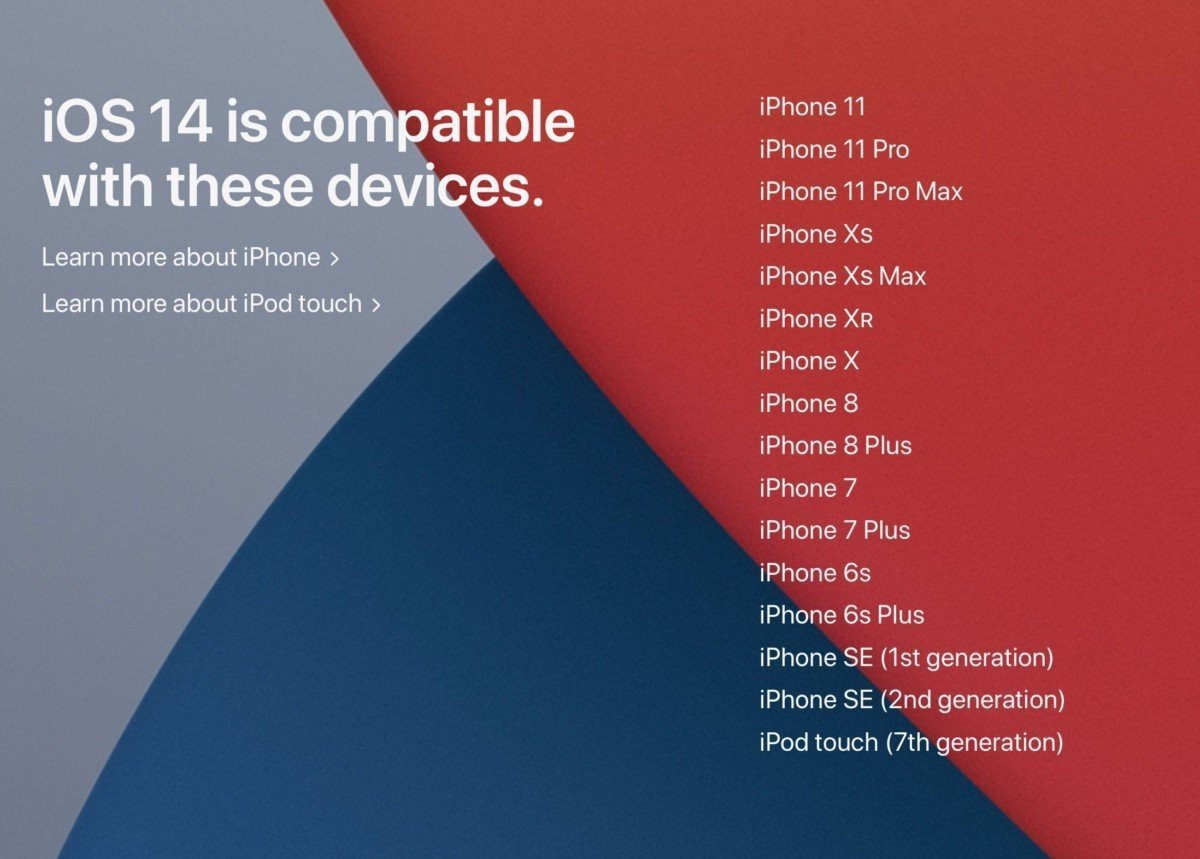 iPhone compatibles iOS14