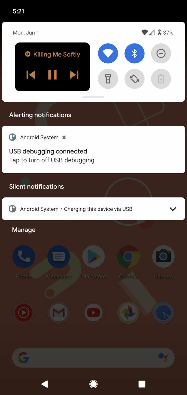lecteur-multimedia-reduit-android-11-panneau-de-notification