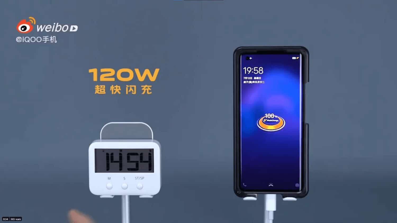 Vivo Iqoo charge rapide 120 watts