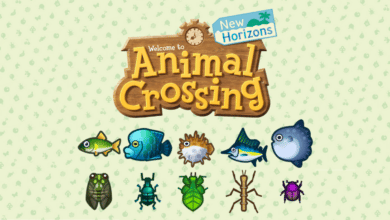 animal crossing new horizons insectes et poissons juillet